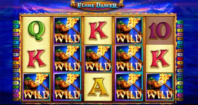flame dancer online slot machine