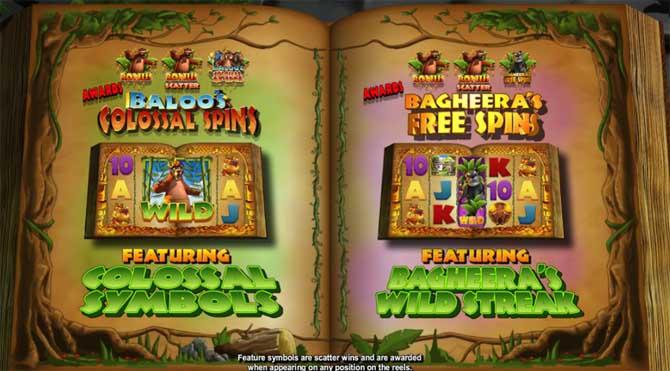 jungle jackpots bonus features