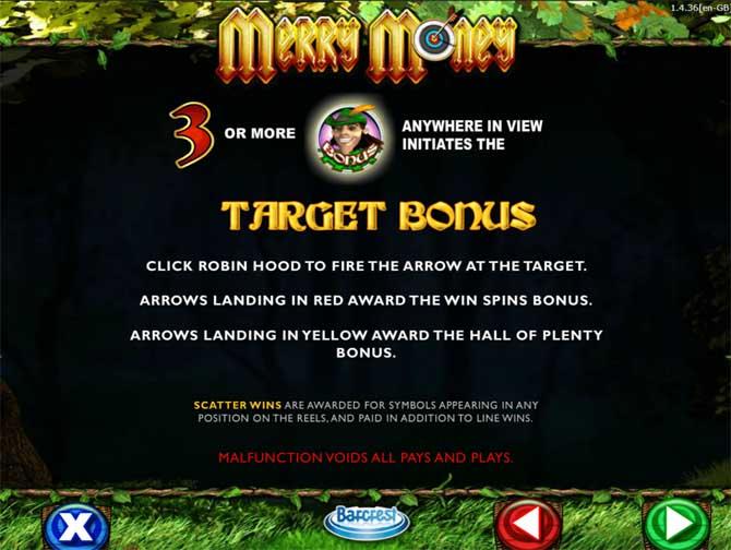 merry money bonus feature
