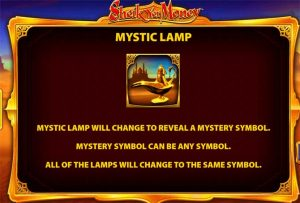 sheik yer money mystic lamp bonus feature