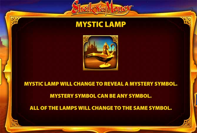 sheik yer money mystic lamp bonus feature