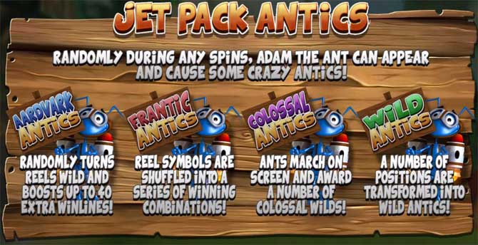 wild antics online slot bonus feature