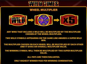 wild times online slot from barcrest