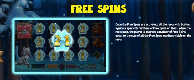 wolf cub slot free spins