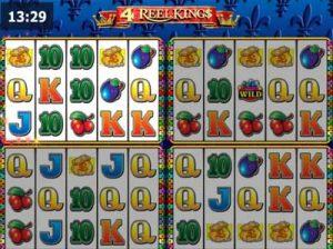 4 reel kings slot from novomatic
