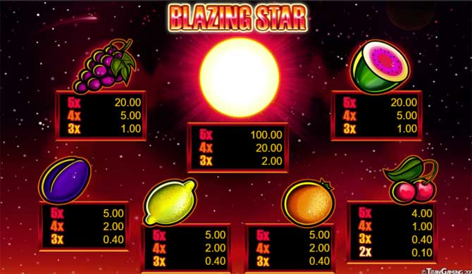 blazing star slot review