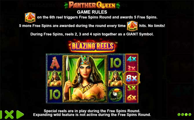 panther queen slot machine rules