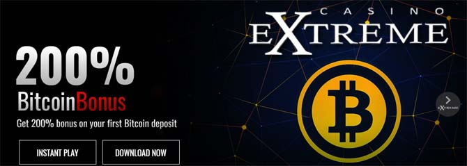 play with bitcoin at casino extreme