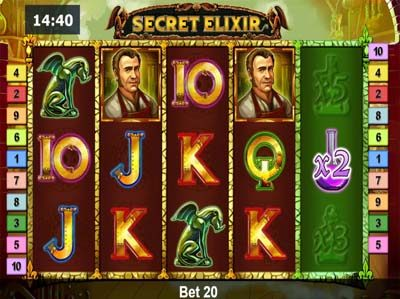 secret elixir online slot from novomatic