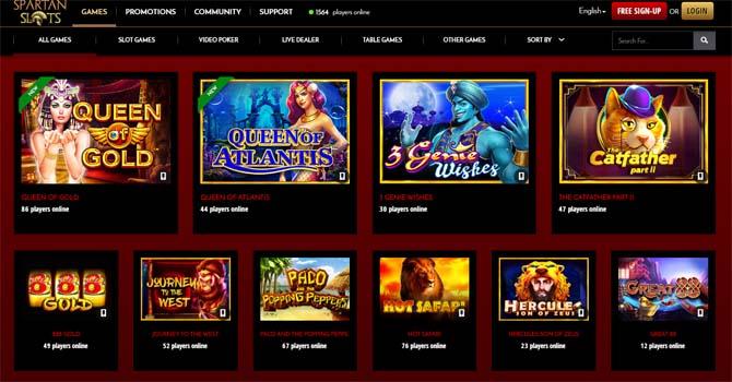 spartan slots casino games