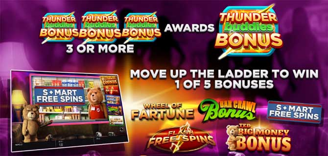 ted online slot bonus features