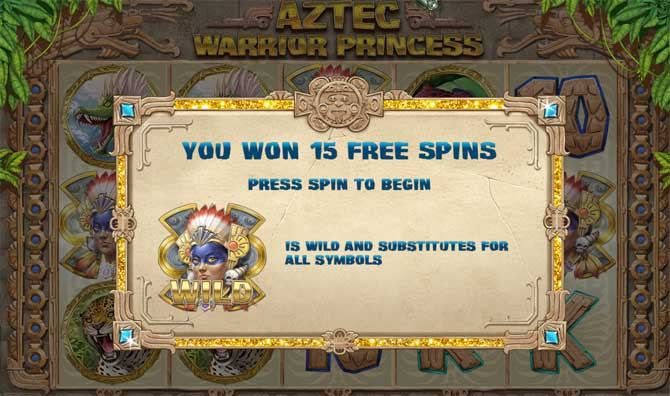 aztec warrior princess free spins bonus feature
