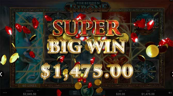 forbidden throne casino slot big win