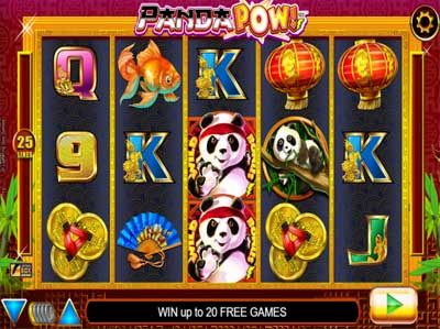 panda pow online slot from developer lightning box in game screenshot