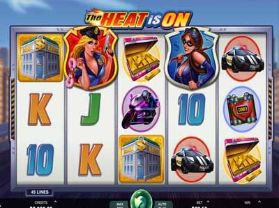 the heat is on online slot by microgaming