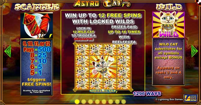 astro cat slot bonus feature
