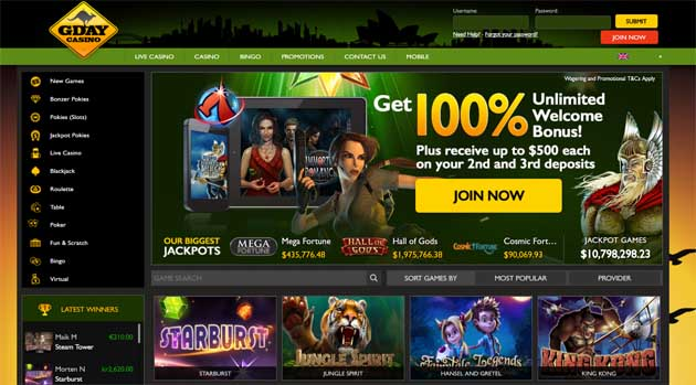 gday online casino review