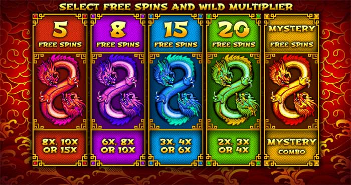 8 dragons free spins bonus feature