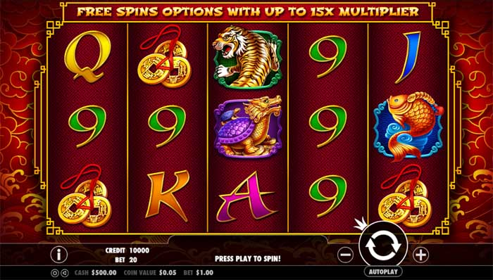 8 dragons online slot