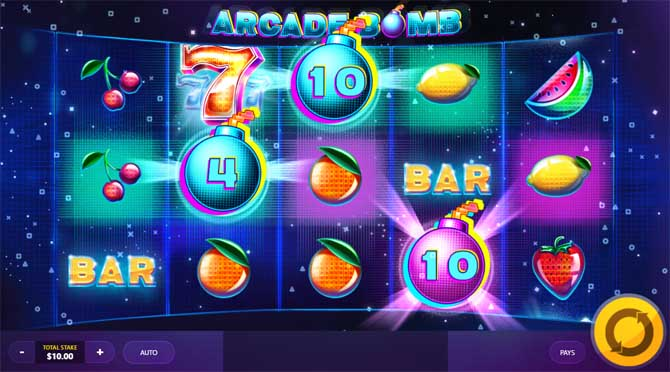 arcade bomb online slot by red tiger gaming