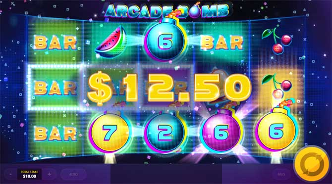 arcade bomb slot bonus feature