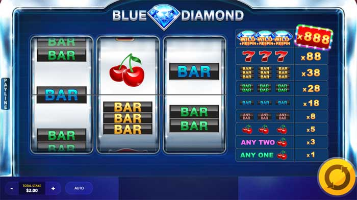 blue diamond online slot by red tiger gaming