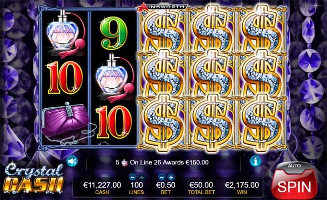 crystal cash online slot big win