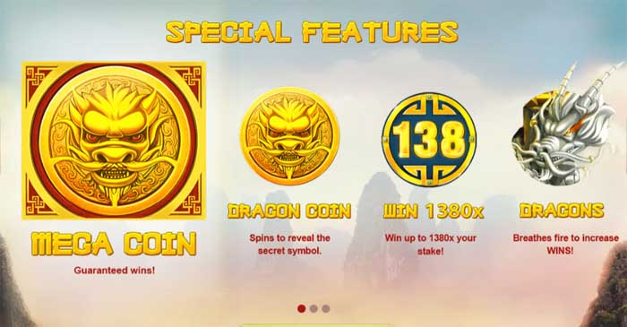 dragons luck special slot features
