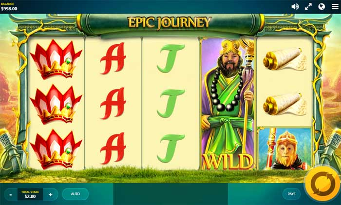 epic journey online slot