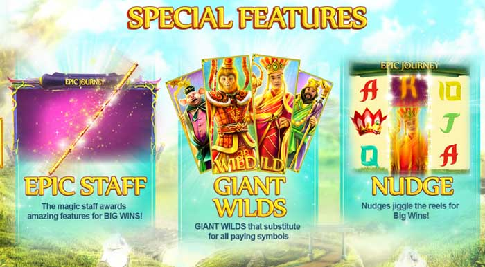 epic journey special slot features
