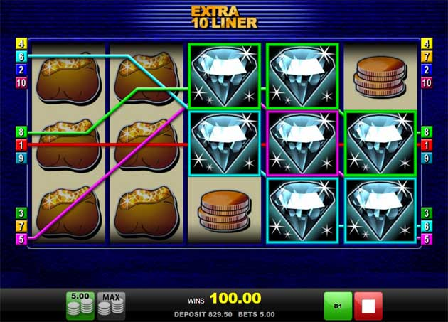 extra 10 liner online slot review