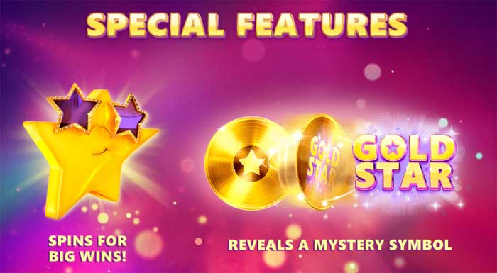 gold star special slot features