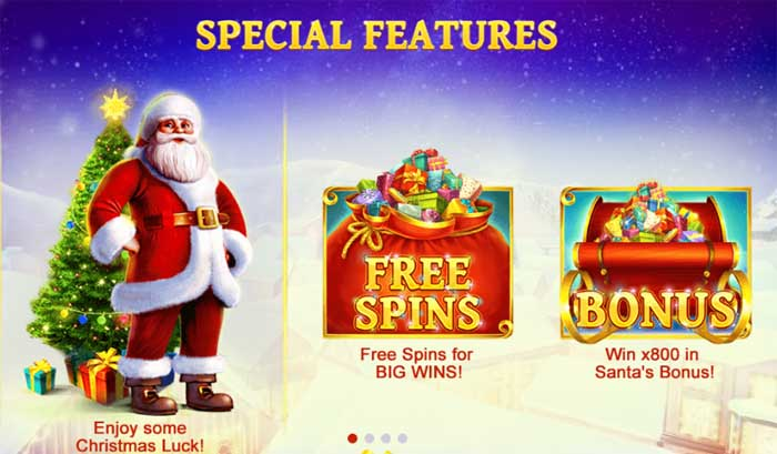 jingle bells special slot features