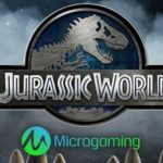 jurassic world online slot created by microgaming