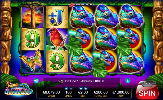 king chameleon slot big win
