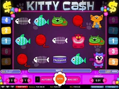 kitty cash online slot by 1x2 gaming
