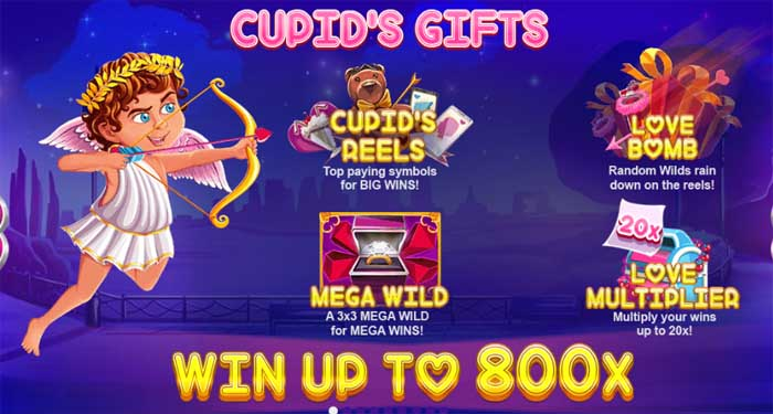 lucky valentine slot bonus features