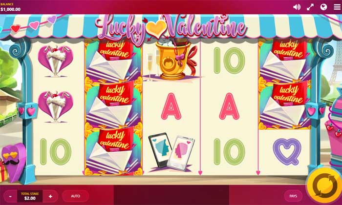 lucky valentine slot by red tiger gaming