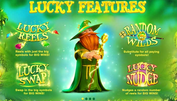 lucky wizard bonus features