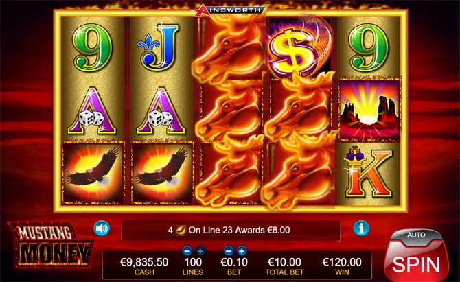 mustang money slot review