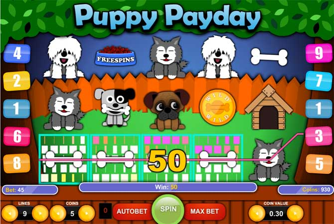 puppy payday slot by 1x2gaming