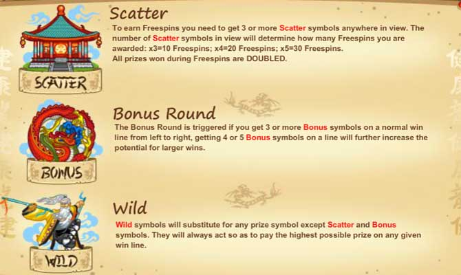 red dragon online slot bonus features explained