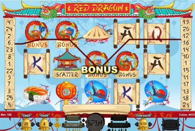 red dragon online slot review