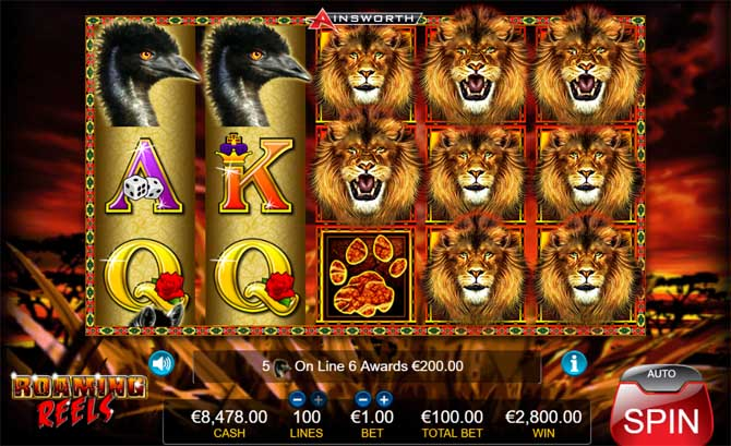 roaming reels slot big win