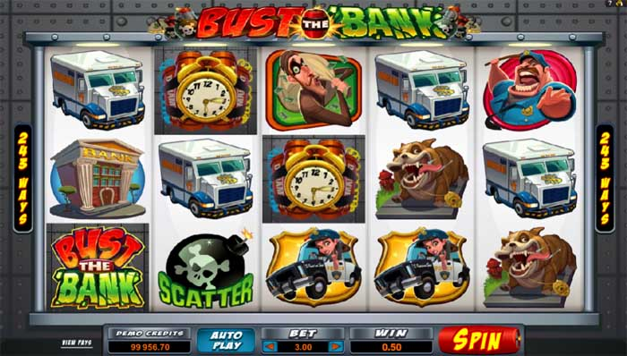bust the bank slot by microgaming