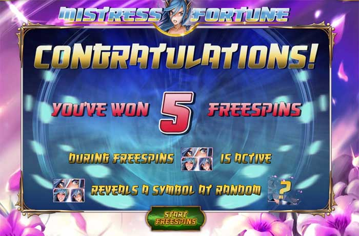 mistress of fortune slot bonus