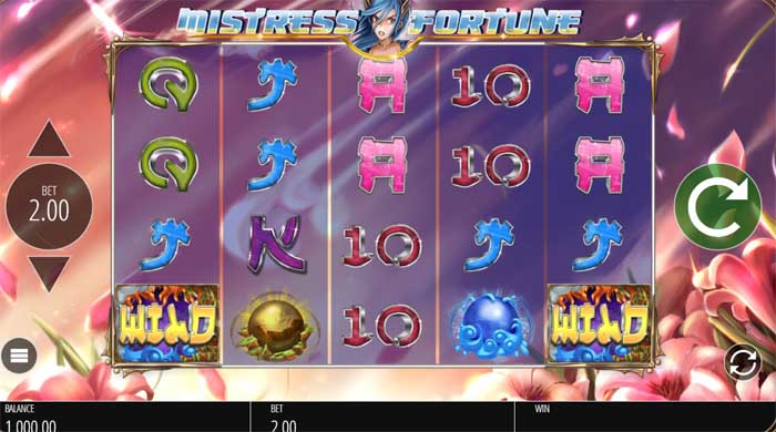 mistress of fortune slot by blueprint gaming