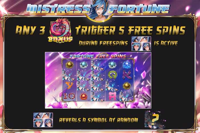 mistress of fortune slot free spins bonus