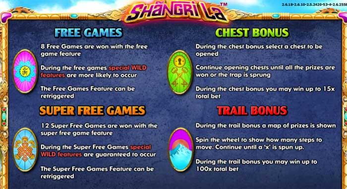 shangri la bonus features