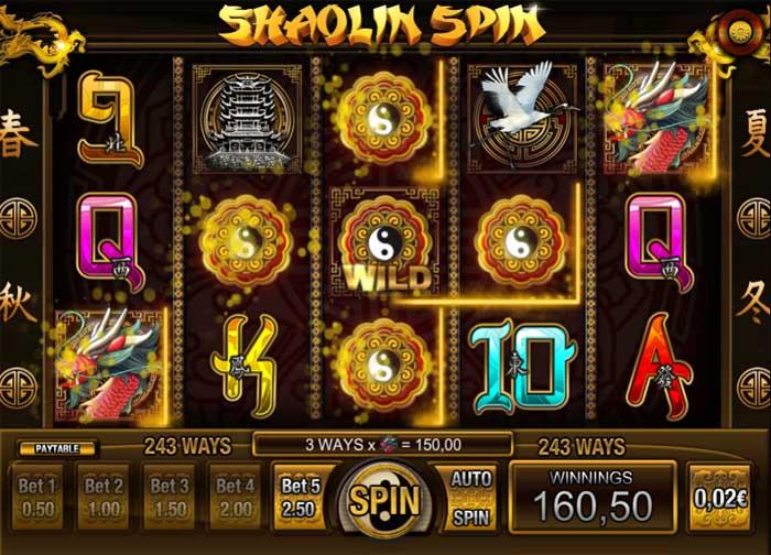shaolin spin online slot big win